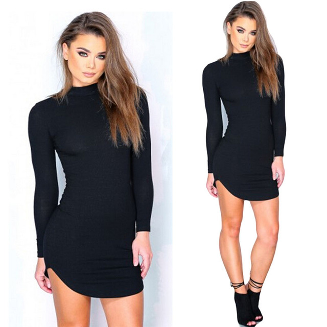 Bodycon Sheath Dress Long Sleeve Club Party Mini Dresses Women Sexy Femme Pencil Tight Bandage Dress KH869450