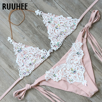 RUUHEE Bikini Swimwear Women Swimsuit Sexy Diamond Bikini Set 2018 Bathing Suit String Female Beachwear Women