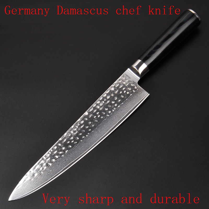 LD Brand 9 5 inches chef font b knife b font Damascus kitchen font b knives
