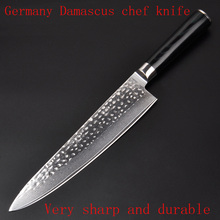 LD Brand 9.5″ inches chef knife Damascus kitchen knives high quality VG10 Japanese steel chef knife wood handle free shipping