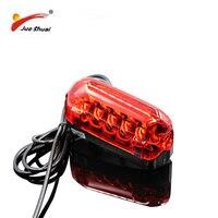 À prova dwaterproof água lâmpada traseira 36 v motocicleta bicicleta elétrica bicicleta luz traseira 100 cm fio vermelho led aviso acessórios da bicicleta