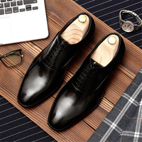 Mens formal shoes genuine leather oxford shoes for men black 2019 dress shoes wedding shoes laces leather brogues