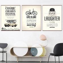 Motiverende citaten Posters en prints Charlie Chaplin Zonder gelach is een dag Verspild canvas Schilderijen Muurafbeeldingen Home Art