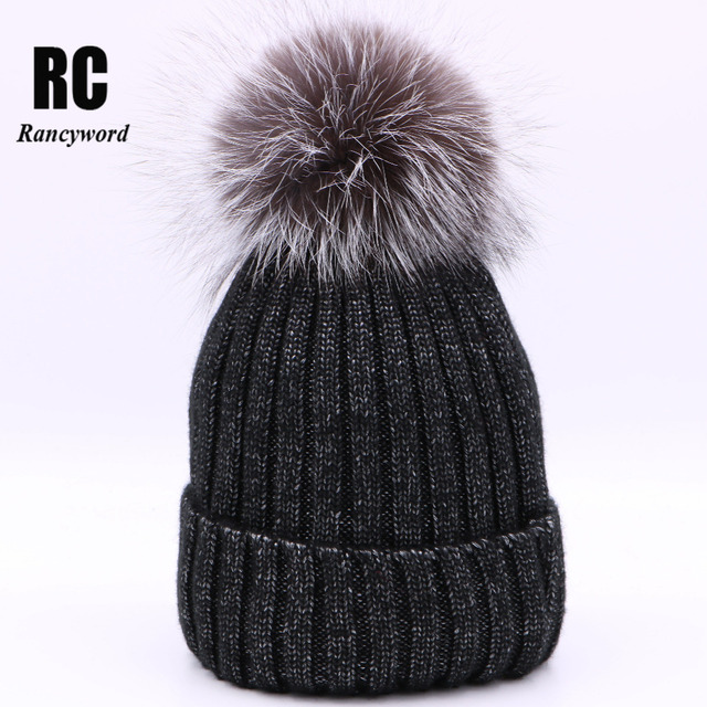 Rancyword  Nuevo alambre brillante sombreros calientes del invierno para  las mujeres real Fox Pieles 98b4fdbcc8c