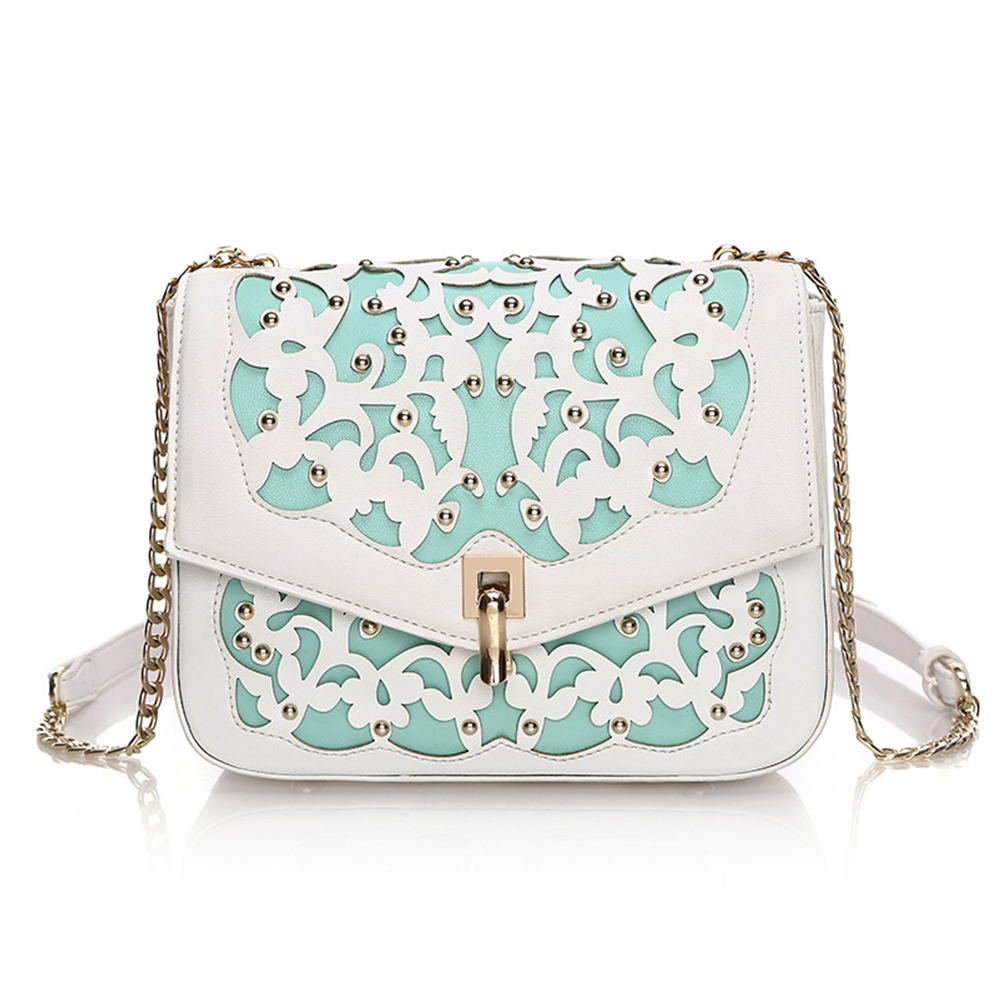 2017 New Small Casual Women Messenger Bags PU Leather Hollow Out Crossbody Bags Ladies Shoulder Purse Handbags Bolsas Feminina 2016 small casual women messenger bags pu hollow out crossbody bags ladies shoulder purse and handbags bolsas feminina vintage