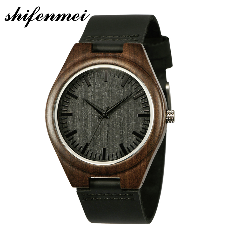 Shifenmei Wooden Watches Top-Brand Famous Unisex Women Luxury Ultra-Thin Fashion S5520