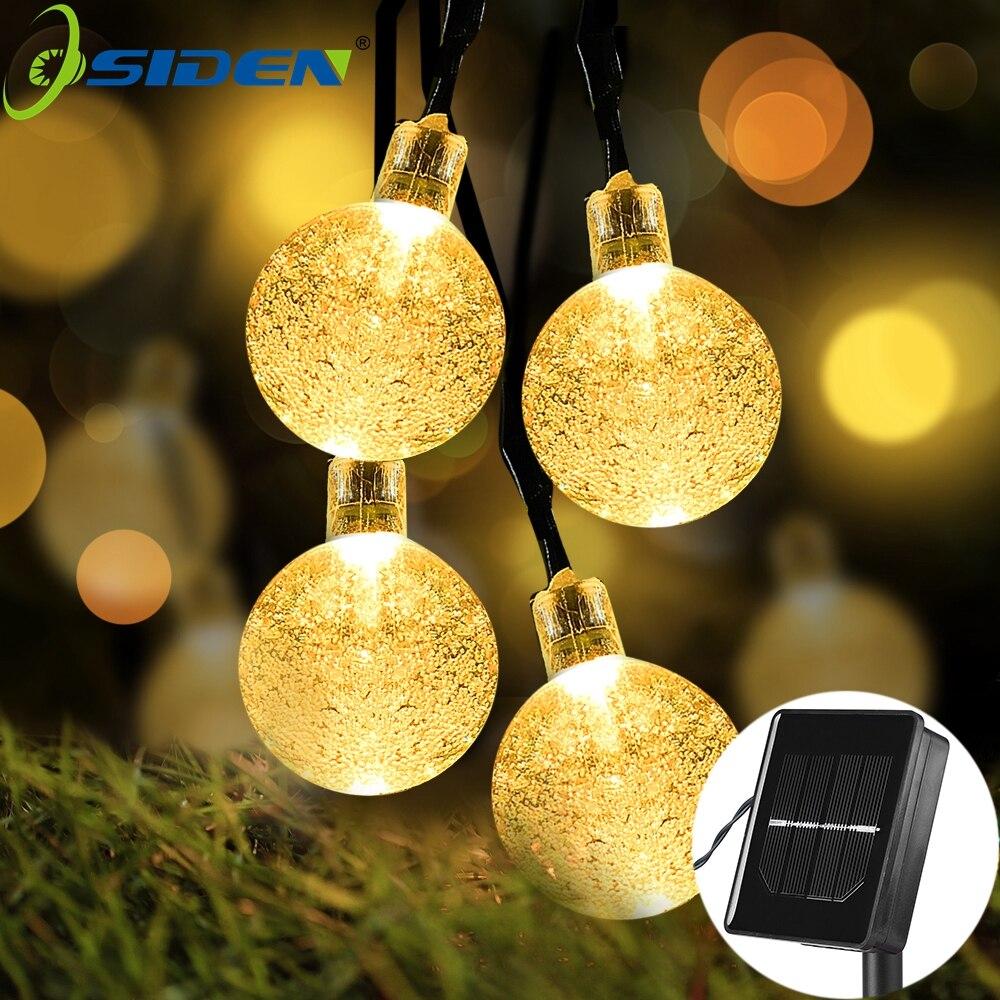 OSIDEN balle Pendentif LED Solaire Guirlande lumineuse Extérieure Jardin Festival Fête De Noël Décoratif Éclairages La Luce Solare 5 M 20led