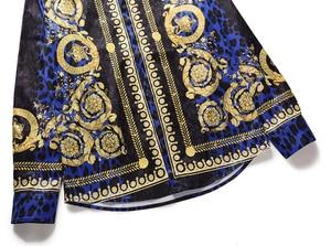 Image 4 - XIMIWUA 2019 nouveaux hommes chemises impression 3d léopard or Floral Design à manches longues chemises décontractées hommes mode chemises Chemise Homme