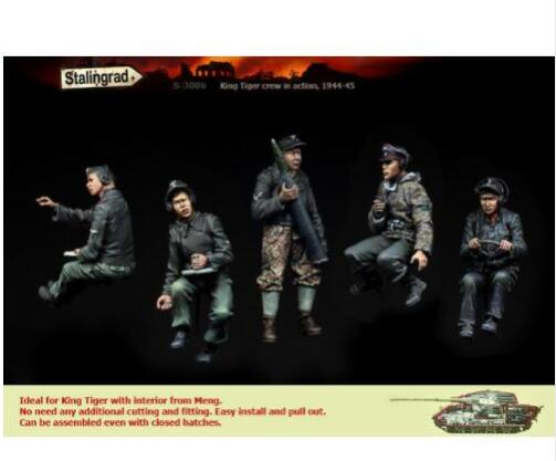 1/35  Uncolor-soldiers (NO TANK)    Toy Resin Model Miniature Resin Figure Unassembly Unpainted
