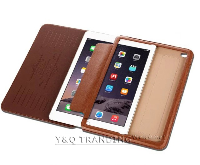 Ultrathin Cowhide Genuine Leather Case for Apple iPad Real Leather Business Stand Smart Cover for iPad  (16)