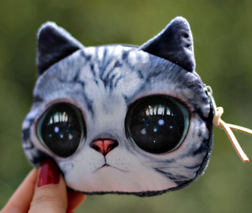 Cat Purse Kitten Pouch Bag Pet Lover Cosmetic Diy In Coin Purses From Luggage Bags On