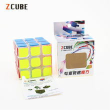 3x3x3 Zcube Transparent Magic Cubes Speed Puzzle Cube Smooth Sticker Educational Toys for Children ZC33101