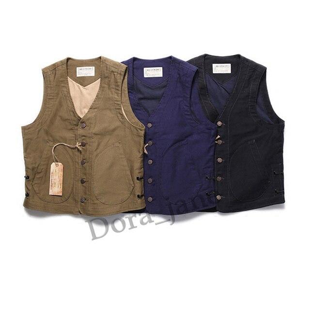 bbabdd3cc25 WW2 USN Mens US Navy Fleece N-1 Vest Vintage Winter Wool N1D Riders  Waistcoat Woolen Sleeveless Cotton Jacket Military Uniform