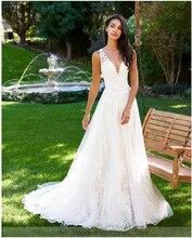 Smileven Sleeveless Wedding Dresses Vestideos de novia 2019 A Line Tulle Bridal Gowns Sexy Romantic