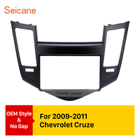 Seicane 2 Din Car Radio Fascia Frame for 2009 2011 Chevrolet Cruze Modified Surrounded Stereo Trim Panel Kit Dashboard Install