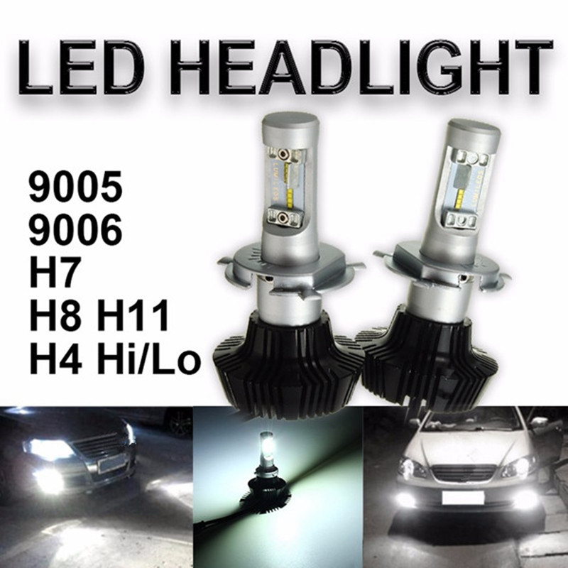H4 H7 H8/H11 HB3/9005 HB4/9006 Hi/Lo Beam High Power 160W 16000LM 6000K Car COB LED Headlight Headlamp Fog Light Conversion Kit maped степлер 24 6