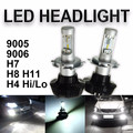 H4 H7 H8/H11 HB3/9005 HB4/9006 Hi/Lo Feixe de Alta Potência 160 W 16000LM 6000 K COB LED Farol Do Carro Farol Conversão de Luz De Nevoeiro Kit