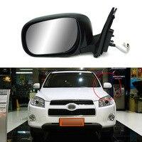 Savanini 9 Pins Exterior Side Automatic Folding Power Adjustable&Heated Glass LED Turn Signal Mirror For Toyota RAV4 2010 2014