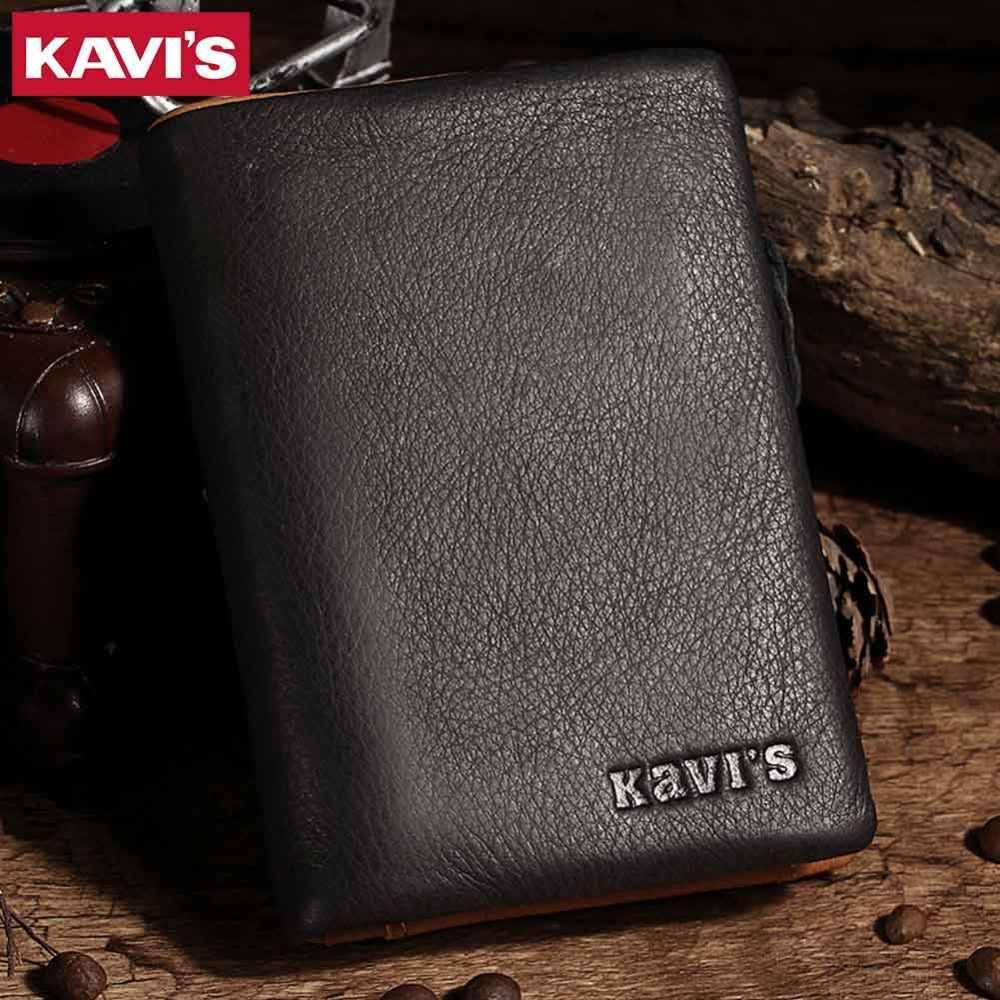 KAVIS кошелек из натуральной кожи мужской кошелек Cuzdan тонкий Walet Portomonee небольшой портфель мини Perse Vallet сумка для денег