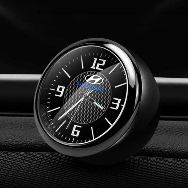 Decoração do carro relógio de pulso modificado interior do carro eletrônico relógio de quartzo para hyundai sonata ix35 etc. acessórios do relógio