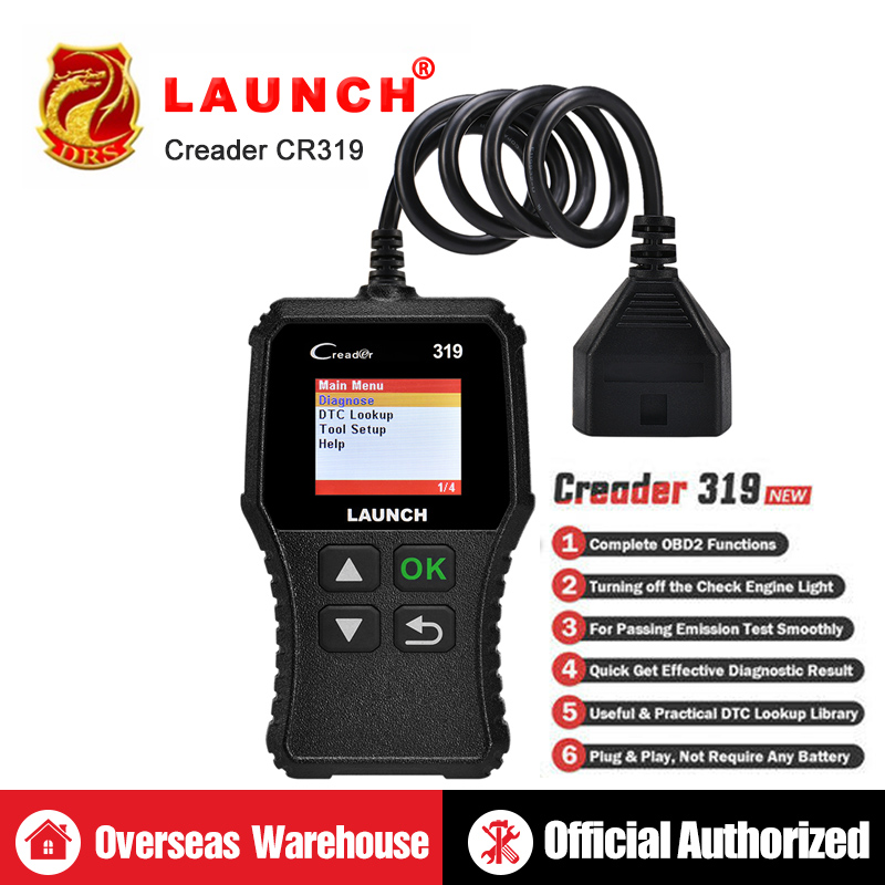 LAUNCH X431 Creader 319 CR319 3001 Full OBD2 Auto Code Reader Scan Tools OBDII Car Diagnostic tool PK AD310 ELM327 OM123 ScannerLAUNCH X431 Creader 319 CR319 3001 Full OBD2 Auto Code Reader Scan Tools OBDII Car Diagnostic tool PK AD310 ELM327 OM123 Scanner