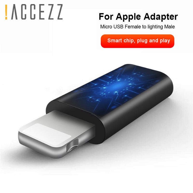 !ACCEZZ Micro USB Female To Lighting Male For Apple Adapter OTG Converter For Iphone 5 6 7 6s 5c Plus For Ipad Air Mini Adapters