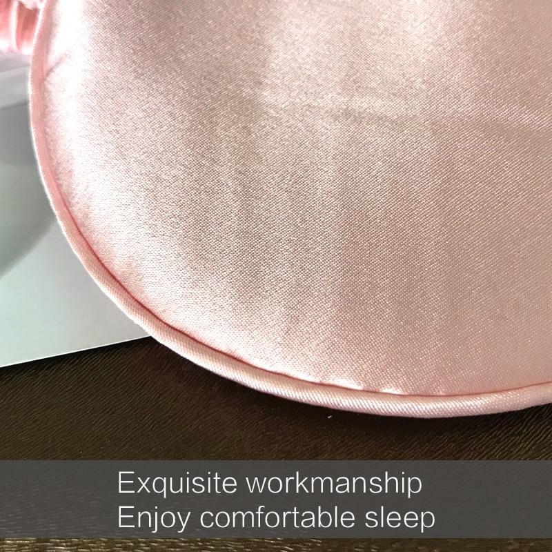 19 Momme Mulberry Silk Sleep Eye Mask & Blindfold with Elastic Strap Soft Eye Cover Eyeshade for Night Sleeping, Travel, Nap 2