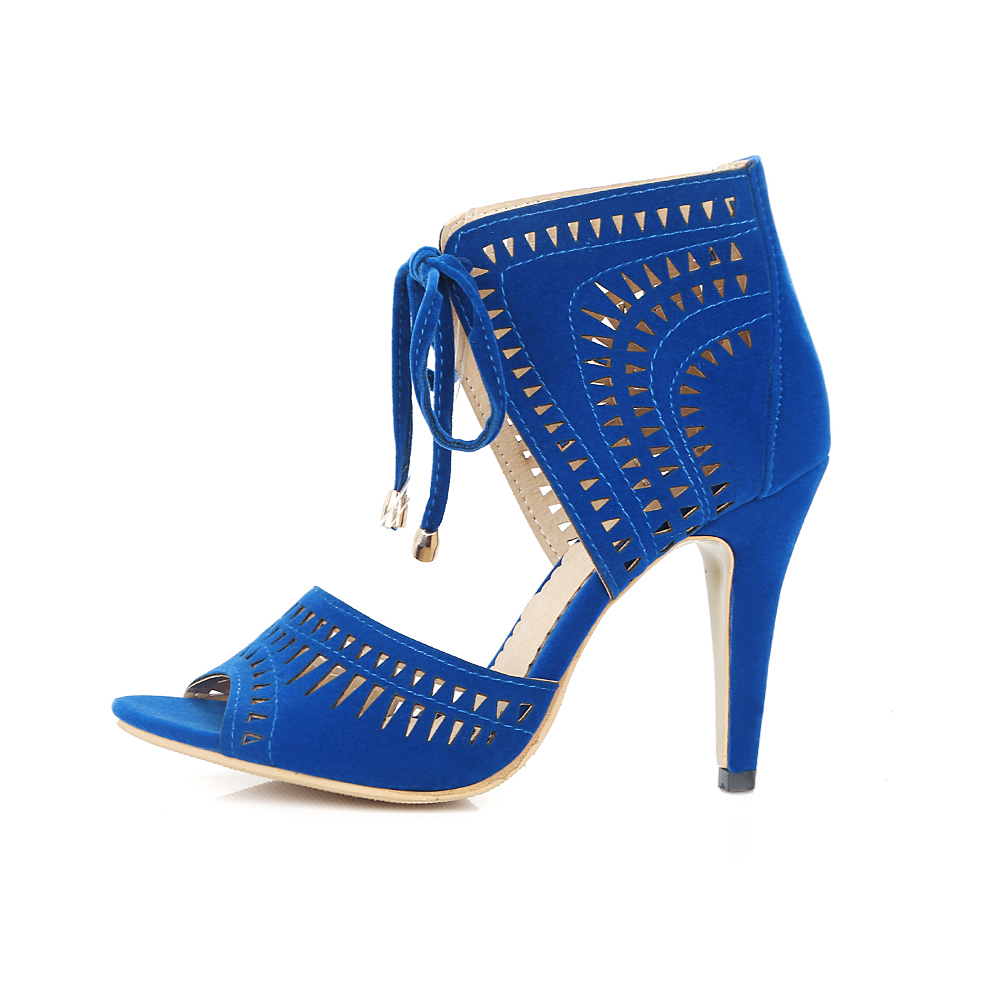 S. romantik Frauen Sandalen Plus Größe 32 43 Mode Sommer Lace Up High Heel Pumps Plattform Dame Frau Schuhe schwarz Blau Rot SS779-in Hohe Absätze aus Schuhe bei  Gruppe 3