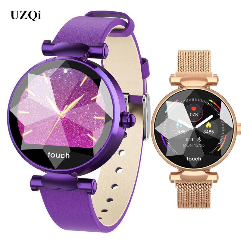 UZQi Smartwatch femme Fitness activité Tracker femme fréquence cardiaque montre intelligente Bracelet Android IOS téléphone dames Bracelet montres