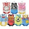 Bodysuits Do Bebê por atacado Verão 2017 Recém-nascidos Meninos Roupas de Bebê Macacões Meninas Vestir Tops Babywear Algodão 100% 80 90 95