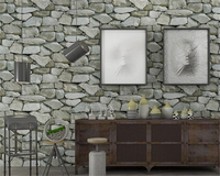 Beibehang Pvc Senior Fashion Classic Retro Stone Pattern 3d Wallpaper Living Room Bar Cafe Background Wall