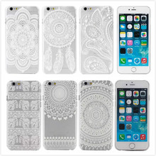New Hard Plastic White Painted Back Case Cover coque capa para For Apple iPhone 6 i6
