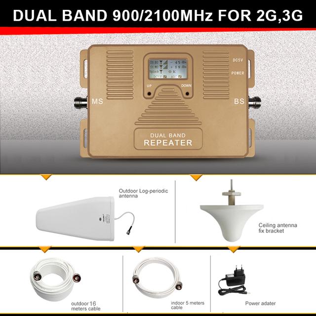 Especialmente para A Rússia 2G + 3G 900/2100 mhz Sinal Móvel Impulsionador GSM + WCDMA MTS MegaFon celular amplificador de sinal celular impulsionador