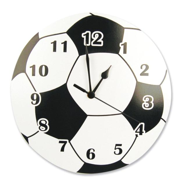 Coupe du monde de Football horloge en bois Fans de Football horloge murale sport mode créative circulaire en bois massif horloge murale
