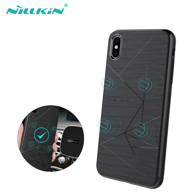 NILLKIN Magnetic Phone Cases For iPhone Xr Xs Max Soft Shockproof Case Cover For iPhone X 8 Xr Plus Cover Car Phone Holder Coque in Fitted Cases from Cellphones Telecommunications