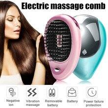 Cepillo eléctrico iónico mágico para peluquería, peine cepillo de pelo con vibración de iones, masajeador de cabeza para estilismo, 1 Uds.