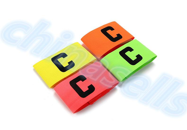 50pcs Football Soccer Flexible Sports Adjustable Player Bands Fluorescent Captain Armband Hockey Rugby Skippers Armbands