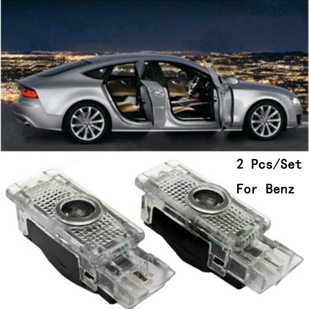 With Logo Weclome Lamp Lens Include LED Courtesy Ghost Shadow Projetor 2Pcs/Set Only For Benz S Class/SLK/CLK/SLR/W240/R171 5W