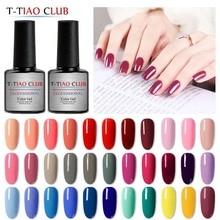 цены T-TIAO CLUB 7ml Pure Colors Gel Nail Polish Matte Top Coat Nails Soak Off Manicure UV Gel Varnish DIY Nail Art Manicure Lacquer
