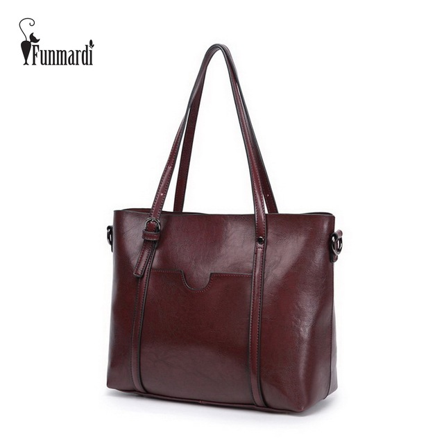 Vintage High capacity PU leather women bags Luxury female handbag Fashion all-match shoulder bags classical leather bag WLHB1504