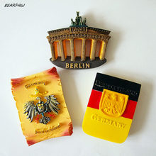 1Pcs Germany Berlin Brandenburger Tor Shaped Fridge Magnets World Scenery Tourist Souvenirs Magnetic Stickers Home Decor(China)