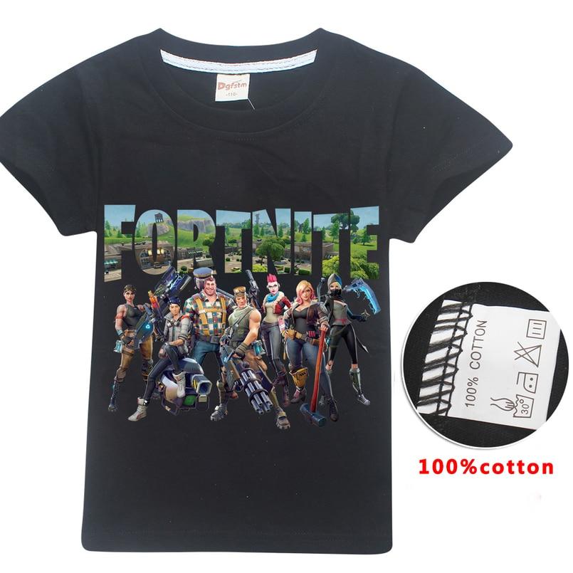 284d4e47d3 Fortnite Minecraft camiseta Topos de Verão Camiseta Bebê Meninos ...