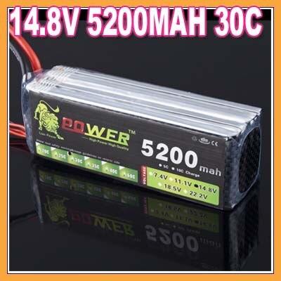 ФОТО 1pcs lion Power 14.8V  5200MAH 30C 4S  r/c akku bateria accumulators lipo battery for remote control heli