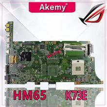 Akemy K73E/K73SD материнская плата для ноутбука ASUS K73E K73SD K73S K73SV K73SJ P73E Тесты оригинальная материнская плата HM65