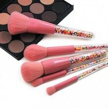 New 5pcs Lollipop Candy Unicorn Crystal Makeup Brushes Set Colorful Lovely Foundation Blending Brush Tool maquillaje