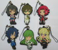 6 pcs/set  Code Geass figures knight of seve,Kallen  pvc phone strap/Keychain pendant  toys free shipping