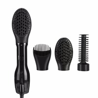 1000W 3in1 Rotating Hair Dryer Brush Tourmaline Hair Blow Comb Curling Straighten Massaging Brush Detangling Hair Scalp Massager