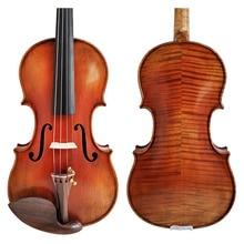 Free Shipping Copy stradivarius 1716 100% Handmade Oil Varnish Violin FPVN04 + Foam Case and Carbon Fiber Bow stradivarius violin playing grade oil paint violin antique varnish honggeyueqi