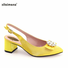 xilaimenz Shoes with Mid Heels with Rhinestone Party Shoes. US  29.00    Pair Free Shipping 44f2a3d07dd3