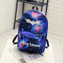 e88e94a6611f BONAMIE Night Light Cool Backpack Batman Backpacks Luminous School Bags For Teenager  Girls Boys Book Bag Starry Sky Backpack